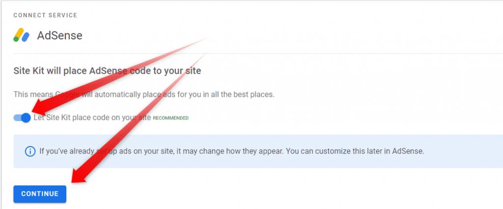 AdSense placement recommendation