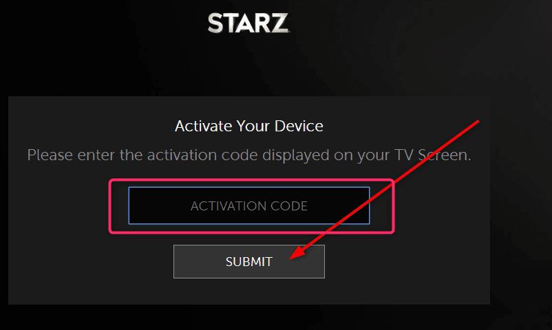 Activate Starz Play