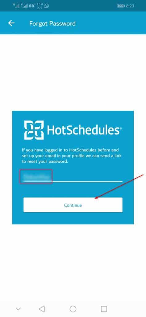 Reset HotSchedules Login