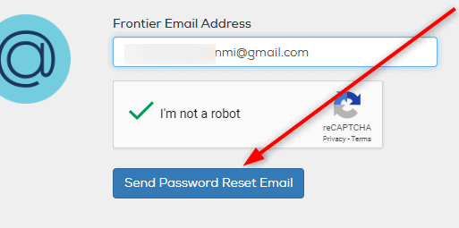 Frontier Password Reset