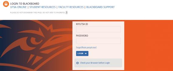 UTSA Blackboard