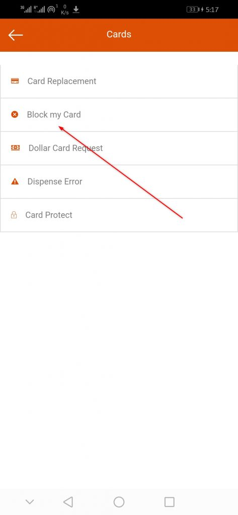 Block my Card