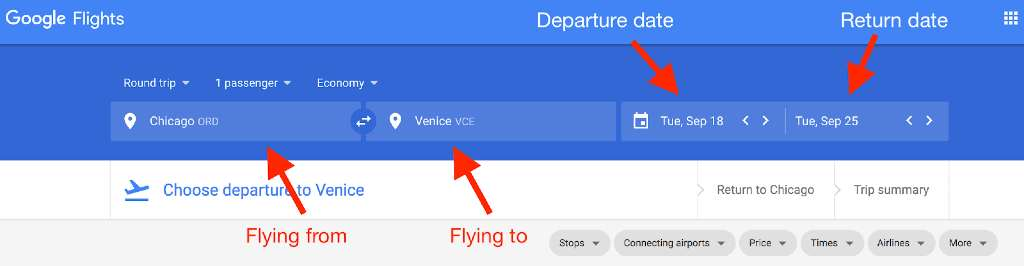 Google Flights Departure Date