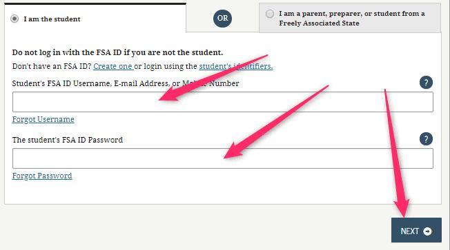 Sign in FSA account