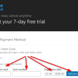 Amazon Prime Video myTV payment method