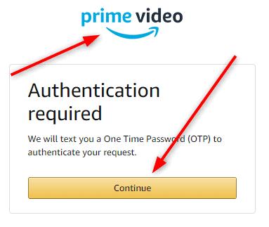 Amazon Prime video authentication