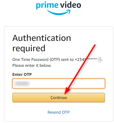 Primevideo.com/myTV authentication code
