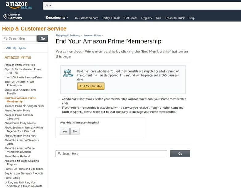 How to End Amazon Prime Membership
