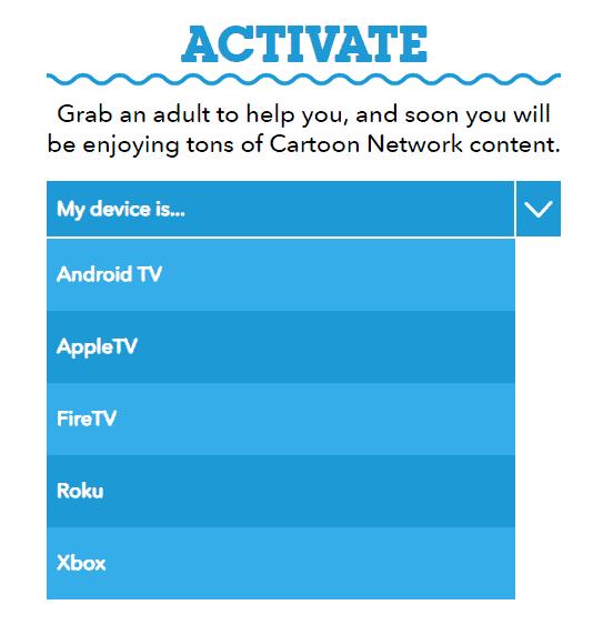 Activate Cartoon Network