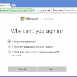 How to Reset Microsoft Password