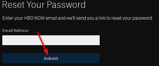 Password recovery email