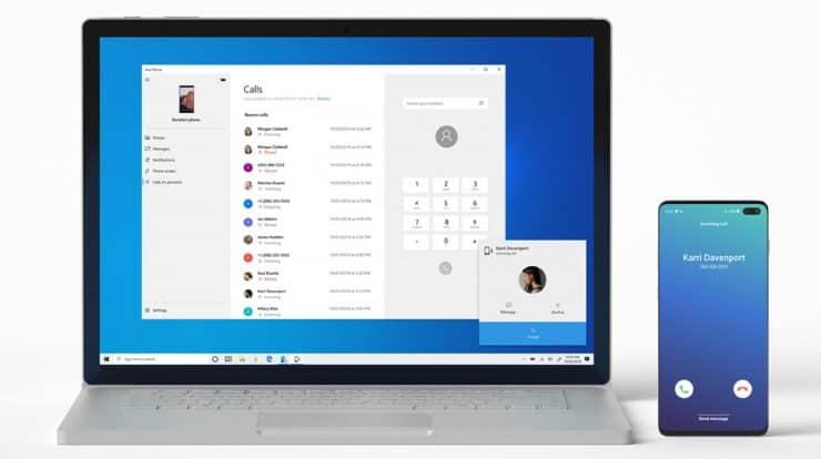 make phone calls on windows 10