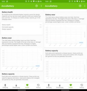 Check Battery health using AccuBattery