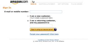 Amazon Account Password Reset