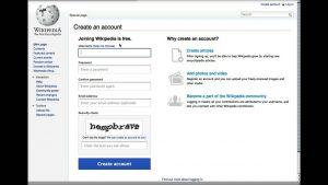 Creating a Wikipedia account