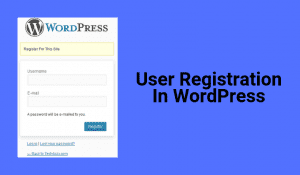 How to Allow WordPress Login and Registration