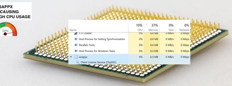 How to fix Wsappx High CPU