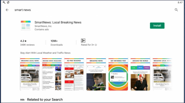How to install Smartnews for PC
