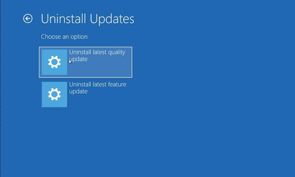 How to Uninstall Windows 10 update