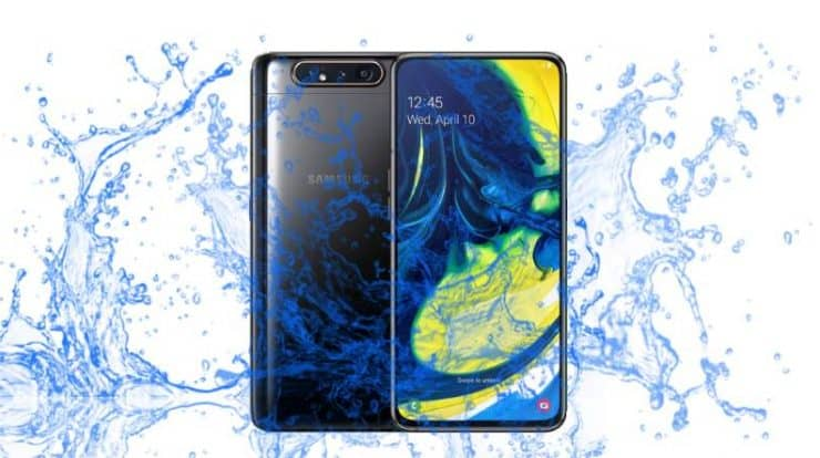 Is Samsung Galaxy A80 Waterproof and Dustproof protected device