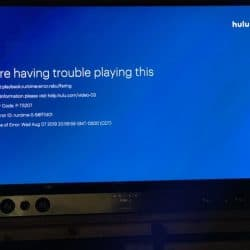 P-TS207 error code on Hulu