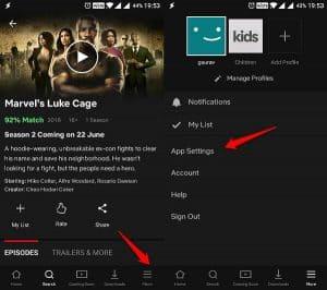 Control Netflix data usage on mobile