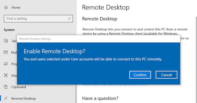Microsoft Remote Desktop Access