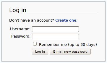 how to login wikipedia