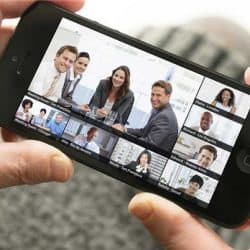 Video conferencing on android and ios