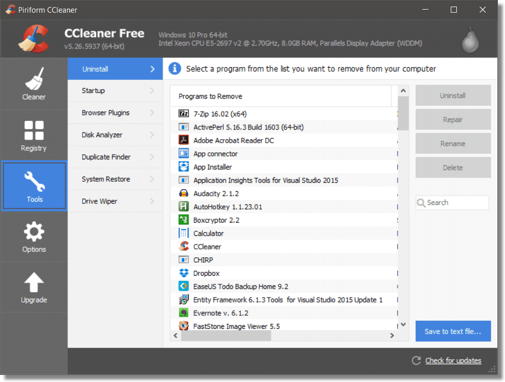 Clear Search History In File Explorer Using The Ccleaner