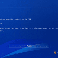 Delete PlayStation 4 user