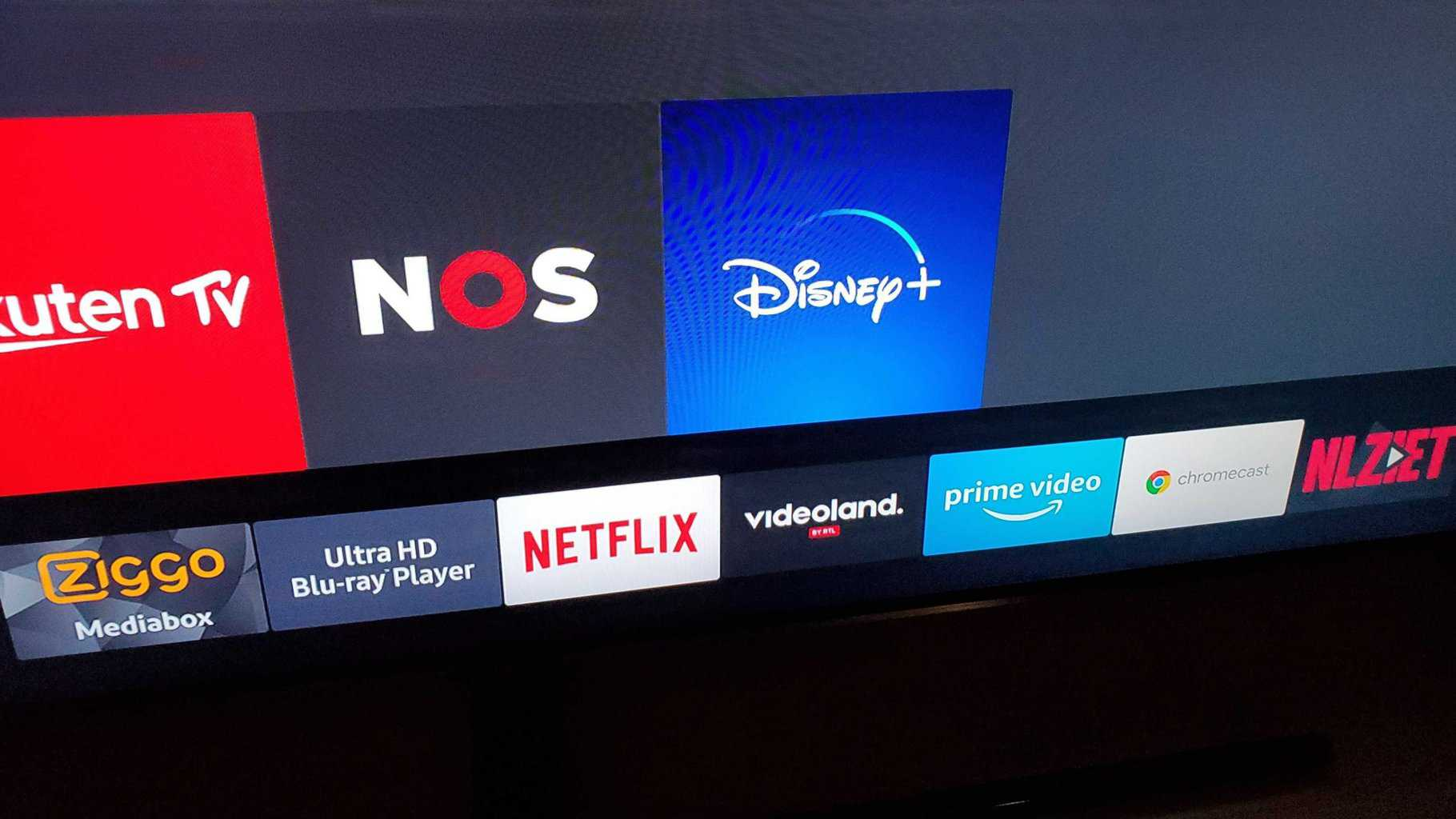 Shows Disney plus on the TV screen, ready to be selected and added to home screen