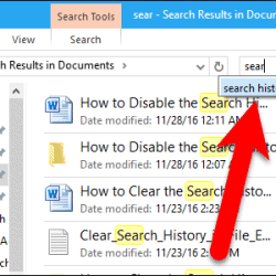 How To Clear Search History In File Explorer