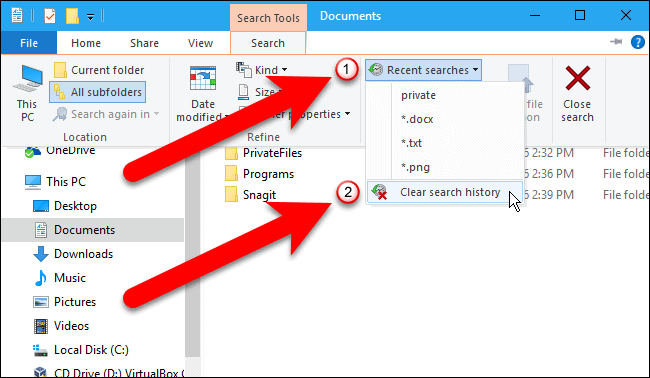 How To Clear Search History In File Explorer on windows