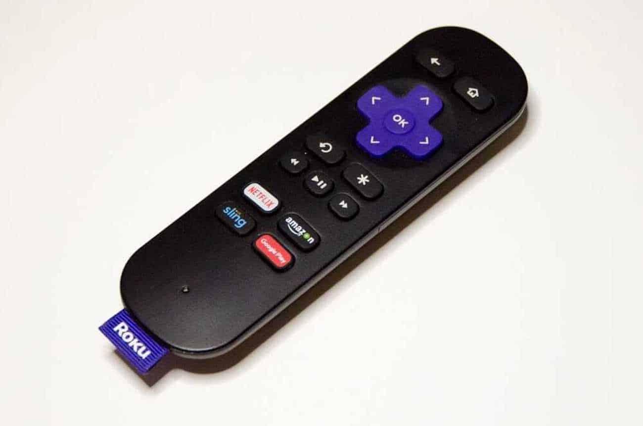 Image shows Roku IR remote