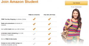 Amazon prime Cost-Join Amazon Student