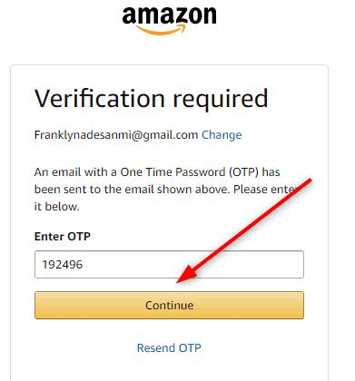 Amazon OTP