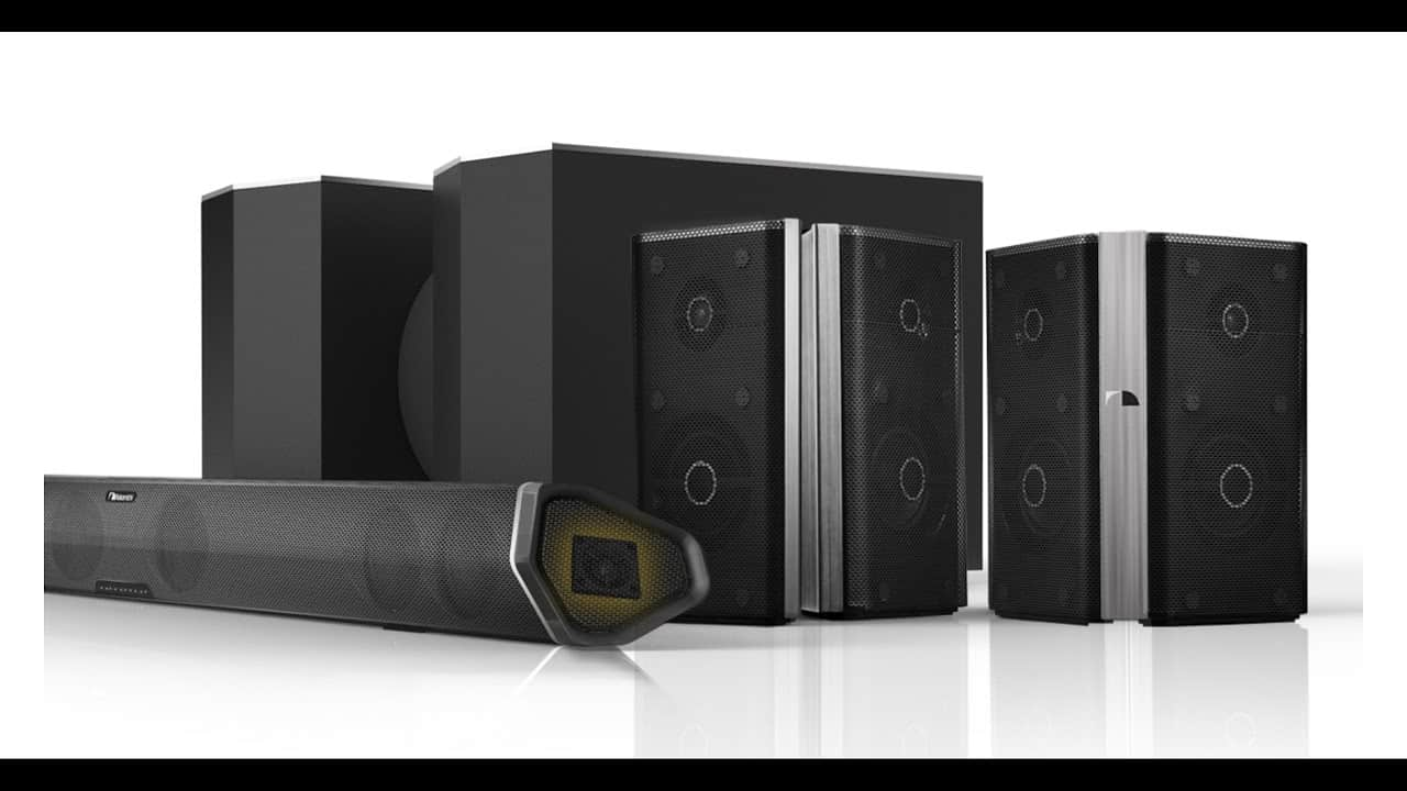 image shows Nakamichi Shockwave Ultra 9.2CH soundbar suitable for large rooms