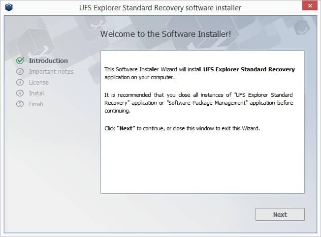UFS Explorer Standard Recovery