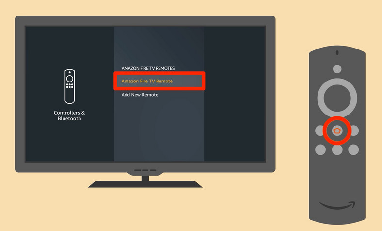Shows the Load Remote and Add remote option on TV screen