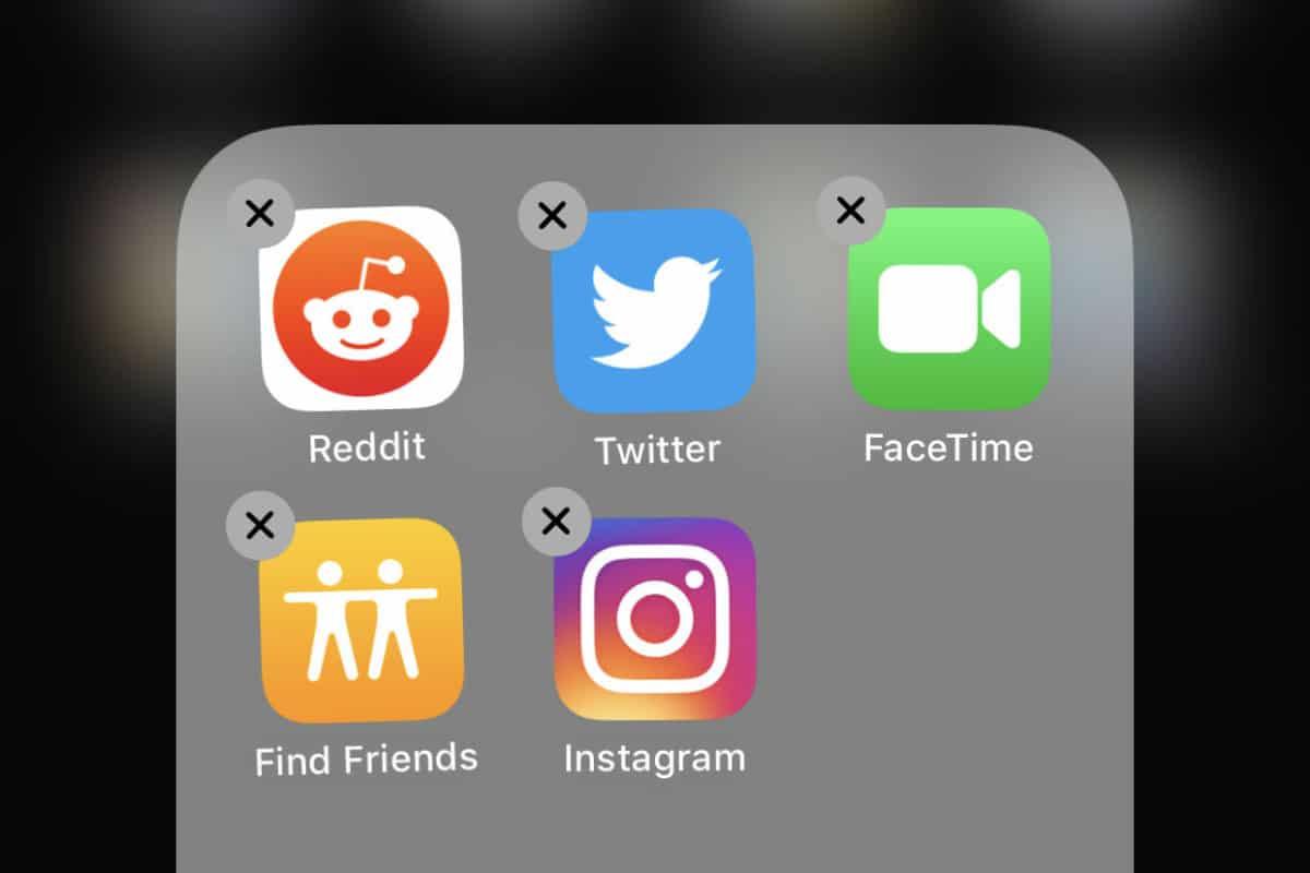 choose app to delete