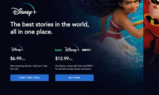 SHOWS disney plus sign up page on TV