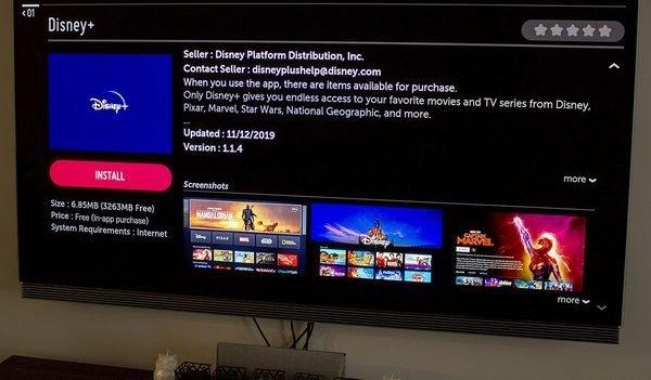 shows disney plus app on app store