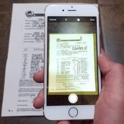 scan documents on iphone