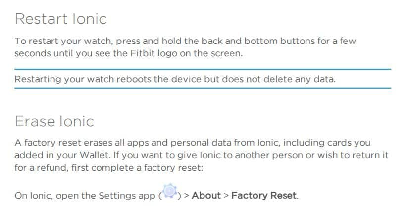 factory reset your Fitbit tracker