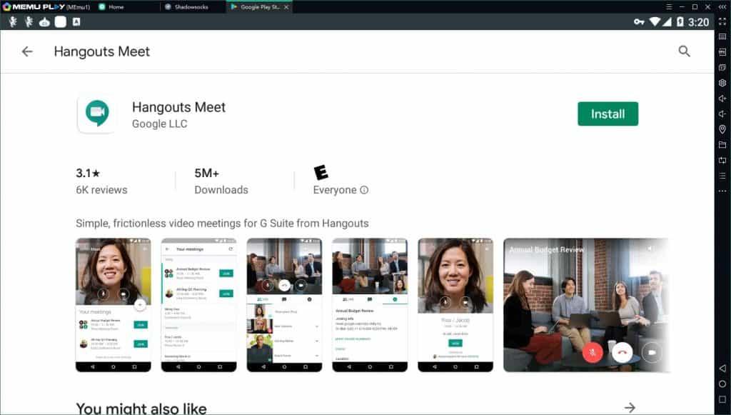 google hangouts extension