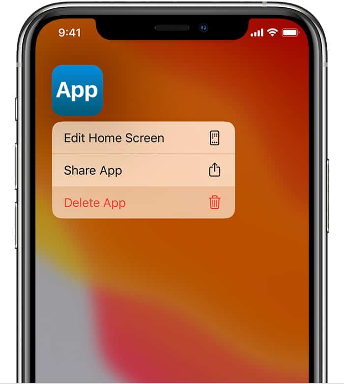 edit home screen to move app