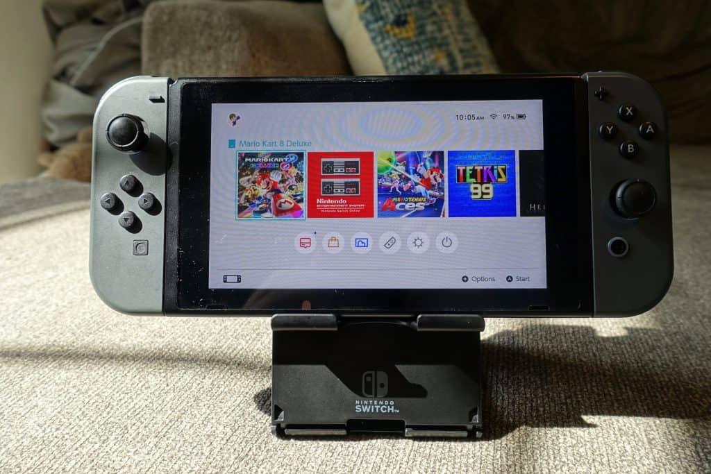 start menu option on Nintendo Switch Dock