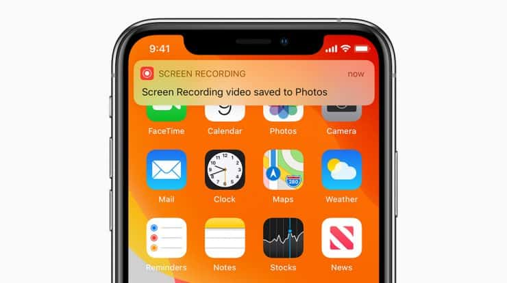 screen record on iphone