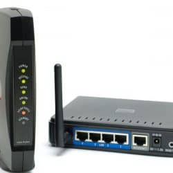 Modem and a Router